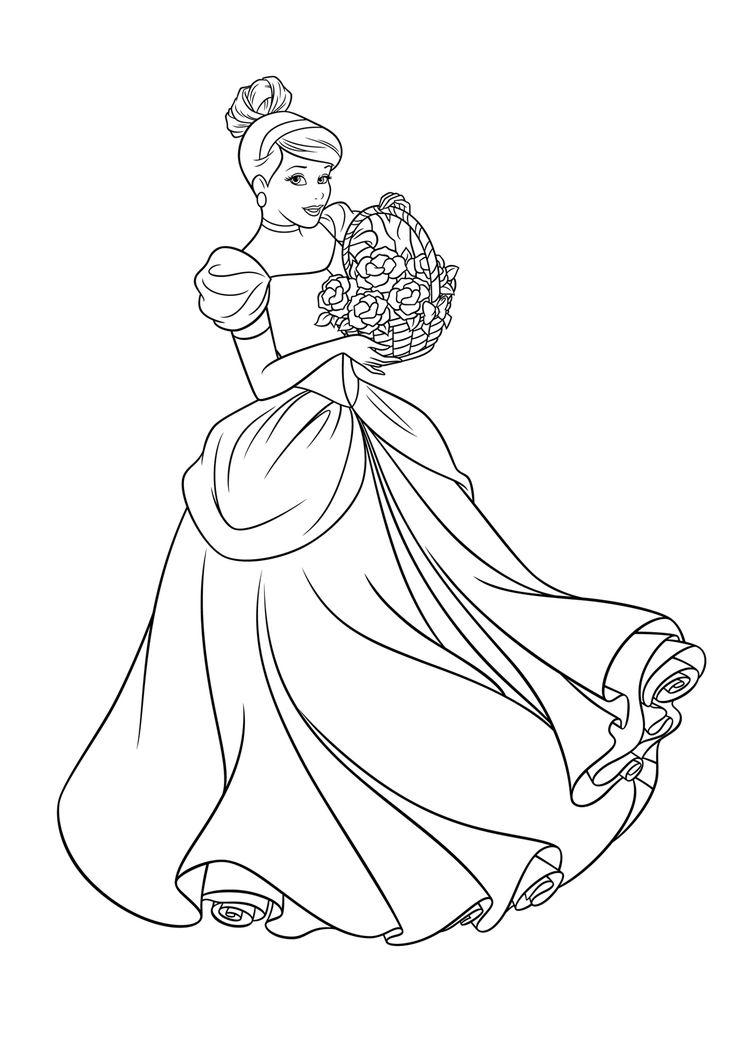 cinderella princess coloring pages - photo#37