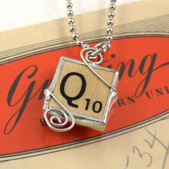 Scrabble Tile Pendant...another reason to learn to soder