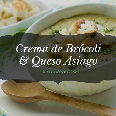 Crema de Brócoli y Queso Asiago