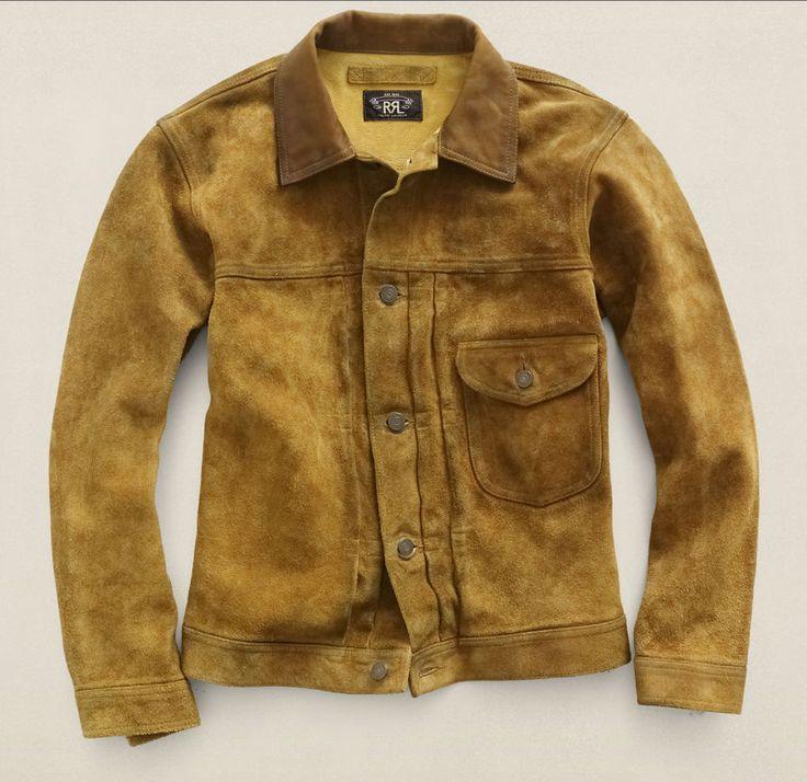 RRL Ralph Lauren Davis suede roughout leather jacket