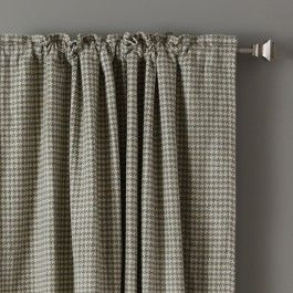 Make Your Home Or Office Warm And Inviting With These Wool Houndstooth Curtains Rod Pocket