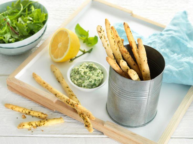 Brødpinner med pestosmør - BREMYKT