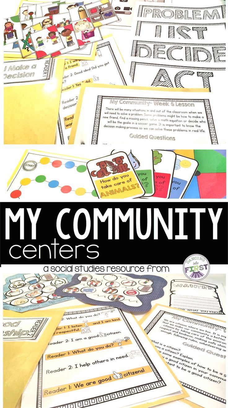 Centers about citizenship, the environment, taking care of the world, community helpers, decision making and problem solving. Games, reading, assessment and activities. $ www.teacherspayte...