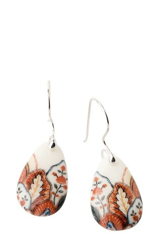 Drop Earrings - Red Leaf Scallop - by Angus & Celeste