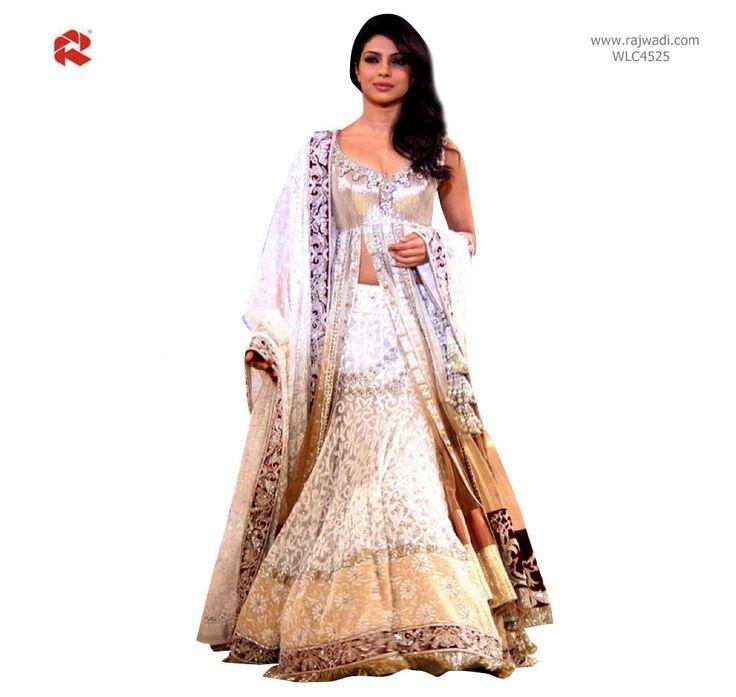 Attractive Priyanka Chopra Lehenga Choli #FeelRoyal #priyankaChopra #lehenga #cholidesign #longcholi
