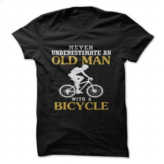 Bicycle Old Man  - #hoodie #funny graphic tees. BUY NOW => https://www.sunfrog.com/Sports/Bicycle-Old-Man.html?60505
