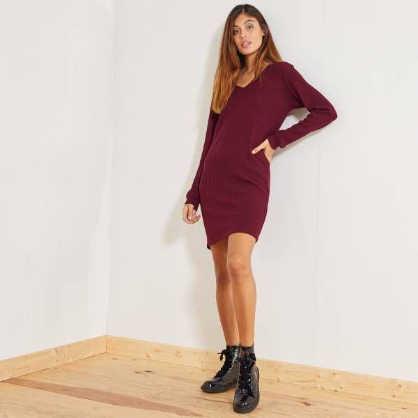 En Dresses Wish Robe Côtelé Vêtements With List Maille Pull Anw00rpq5