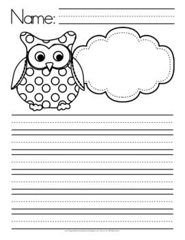 owl themed writing paper.