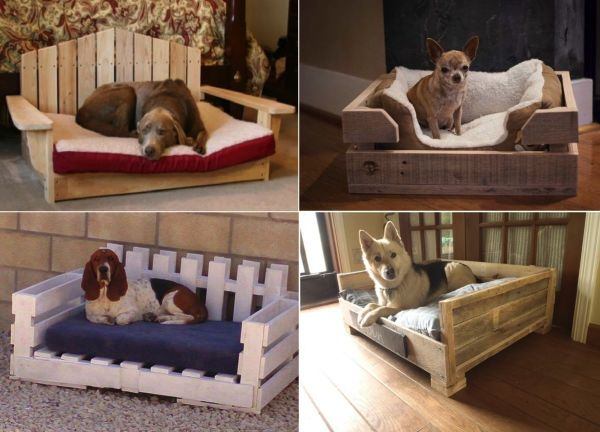 DIY Dog Bed Using Wooden Pallets - Find Fun Art Projects to Do at Home and Arts and Crafts Ideas