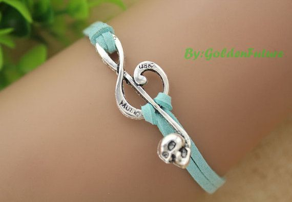 The love in music bracelet, musical note bracelet,a retro silvery bracelet,a gift for your lover---S066 on Etsy, $2.99