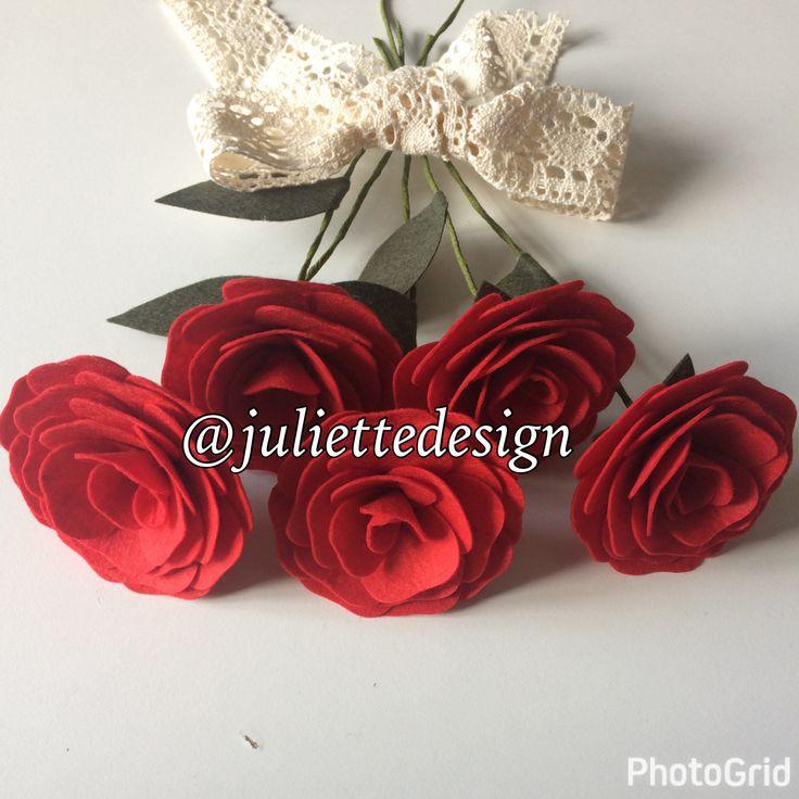 Felt Red Rose, Red Roses, Handmade Roses, Bouquet, Felt Flowers Bouquet, Bouquet Toss, Wedding Flowers by juliettesdesigntr on Etsy https://www.etsy.com/listing/527268189/felt-red-rose-red-roses-handmade-roses