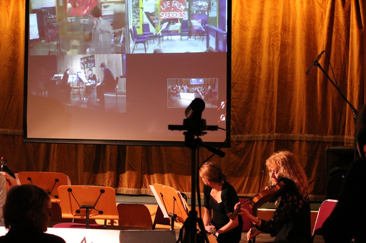 New Ambitions: Video technology is an exciting way for musicians to work togther. During a recent visit to Shetland, RSNO musicians and local musicians from Unst, Out Skerries, Foula and Fair Isle broadcast performances over the internet to an RSNO concert in Lerwick.