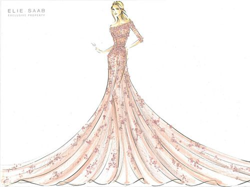 Elie Saab haute couture illustration ;)