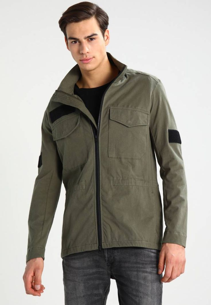 Lyle & Scott ZIP THROUGH HOODED - Chaqueta fina - woodland green Rah24QEQAB