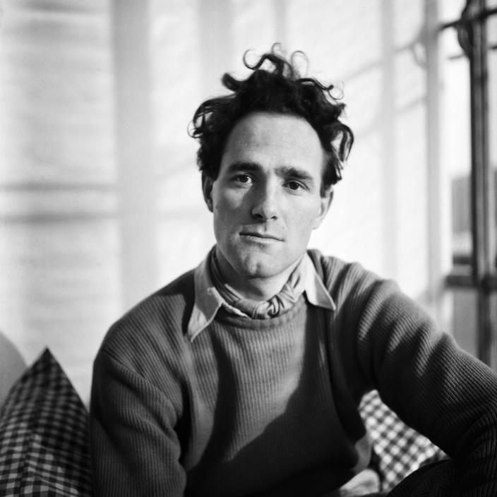 Werner Bischof, Zurich. 1940. Self portrait in his Studio.
