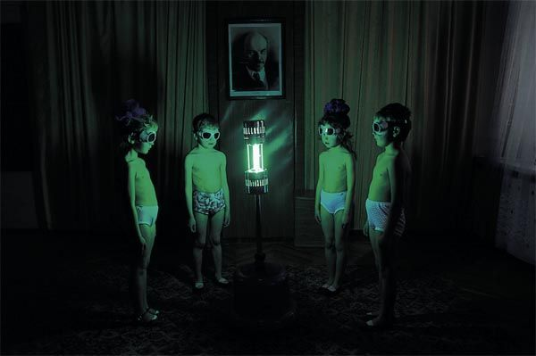 During the Soviet era, children had to undergo ultraviolet treatment to make up for the lack of sunlight.