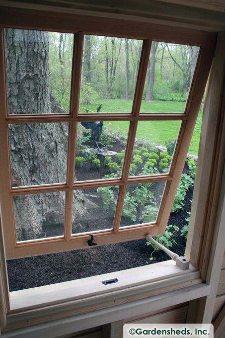 AWNING WINDOWS : Window for Garden Shed : Push Out Window ...