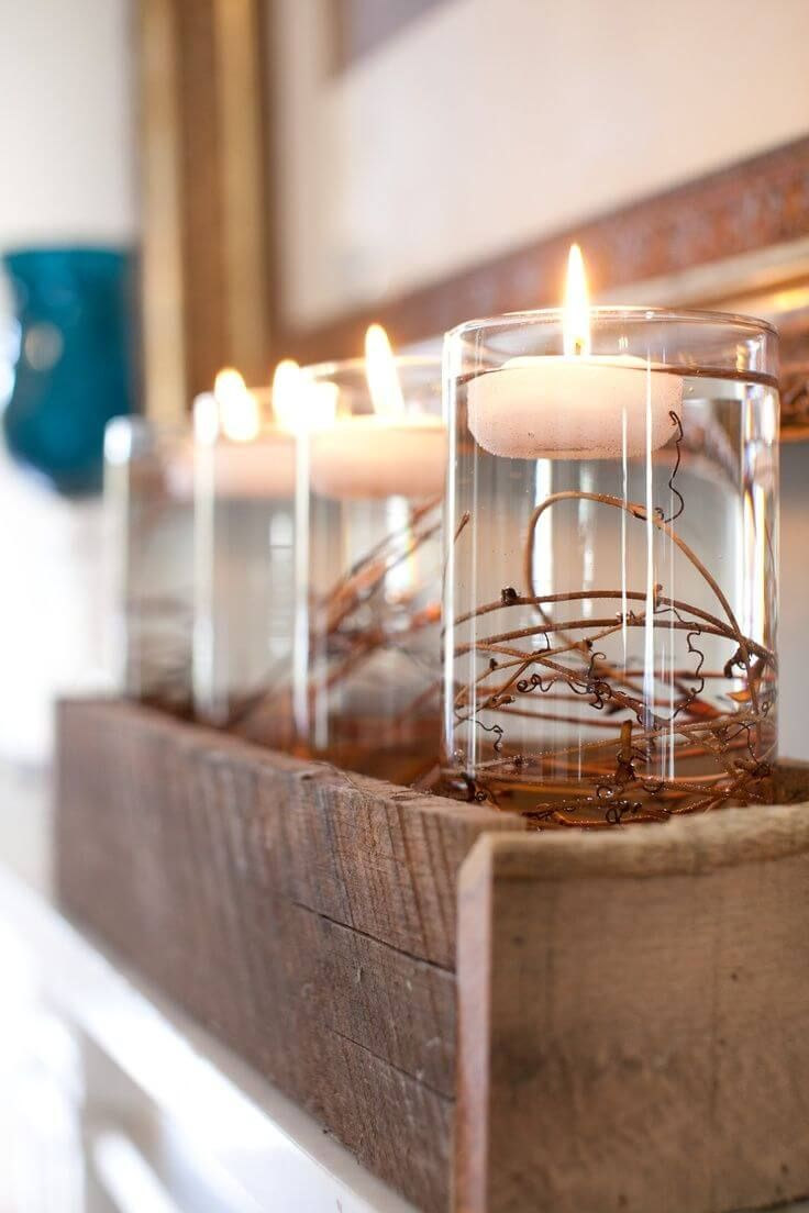 Simple and cute rustic wooden box centerpiece ideas to