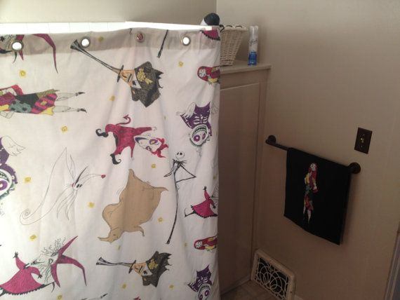 Nightmare Before Christmas vintage shower curtain by jessisdresses, $75.00 yay for the bathroom