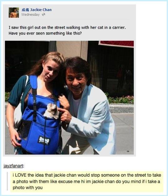 Jackie Chan's post