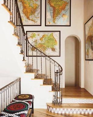 Best Decorating With Maps Images On Pinterest Home Antique