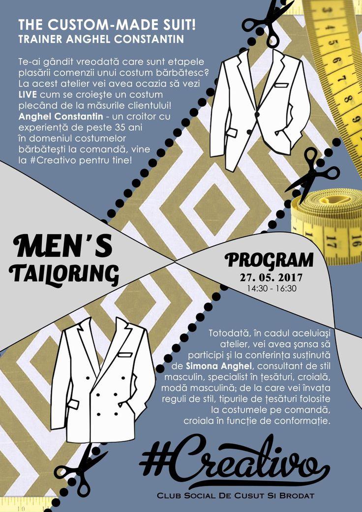 Workshop croitorie barbati in Bucuresti sustinut de Anghel Constantin