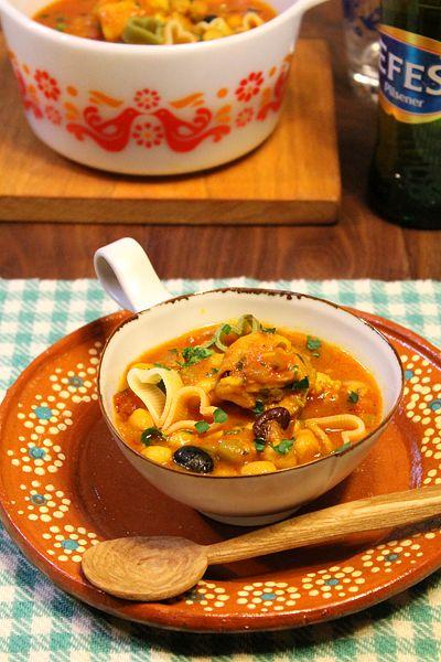 モロッコの豆たっぷりトマトスープハリラ☆ハートのラブリーパスタ入り