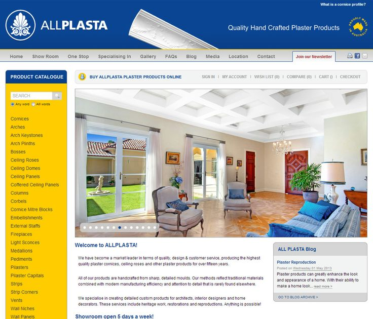 #Ecommerce #website #solution provided for Australia's largest online showroom of #plaster #products. Many quirky features that come as standard have made their #online #sales sky-rocket!