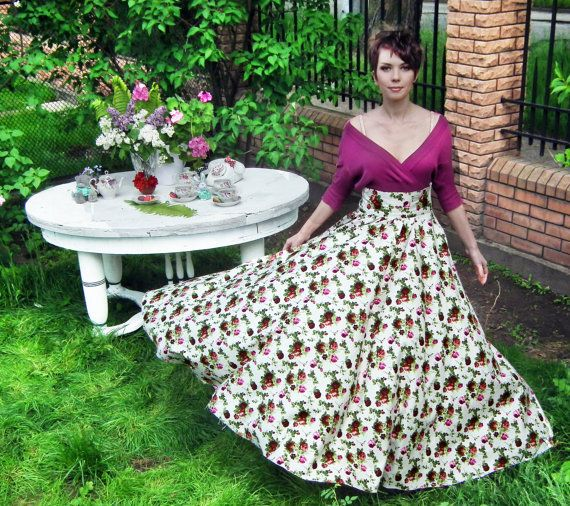 Maxi Skirt  Long Skirt Floor length skirt Floral skirt от FatBerry, $78.00 I love it!