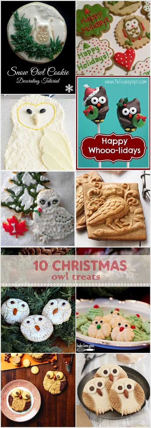 My Owl Barn: 10 Delicious Christmas Owl Treats