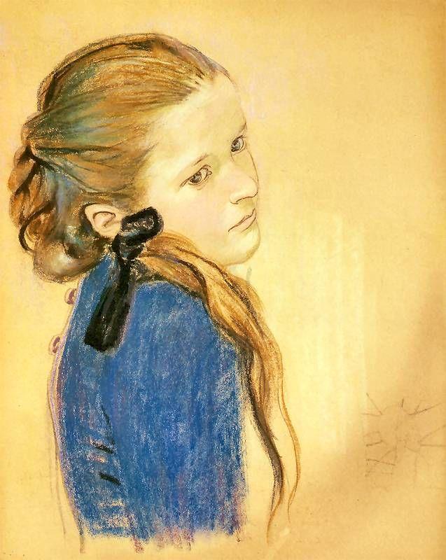 Stanisław Wyspiański (Polish, 1869-1907) 'Portret dziewczynki', ok. 1900