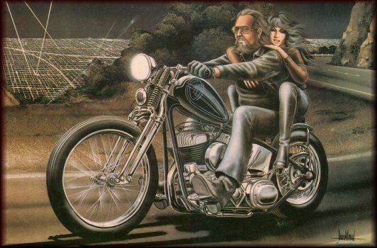 David Mann Motorcycle Art | SMOKIN' RIDERS //: Dave Mann Art Gallery!