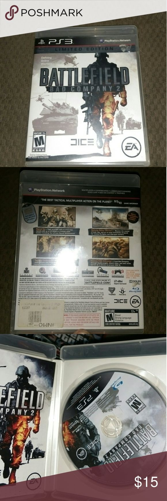 Ps3 game/ battlefield bad company 2 Only used a few times , perfect condition , for play station 3 playstation3 Other