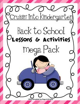 This Back To School Mega Pack is jam packed with lessons and activities to get you through the first 2 weeks of school. The pack focuses on letters, numbers, colors, writing, reading, shapes, and more. There are over 35 student practice sheets, 35 teacher resources and materials (games - story map - art ), 10 lesson and direction pages... This pack will make your back to school planning a breeze!