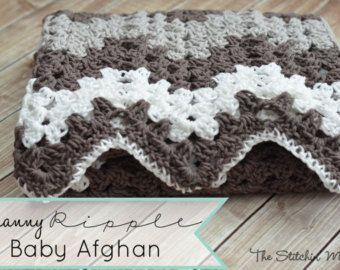 Random Stripe Granny Ripple Afghan - Crochet Pattern