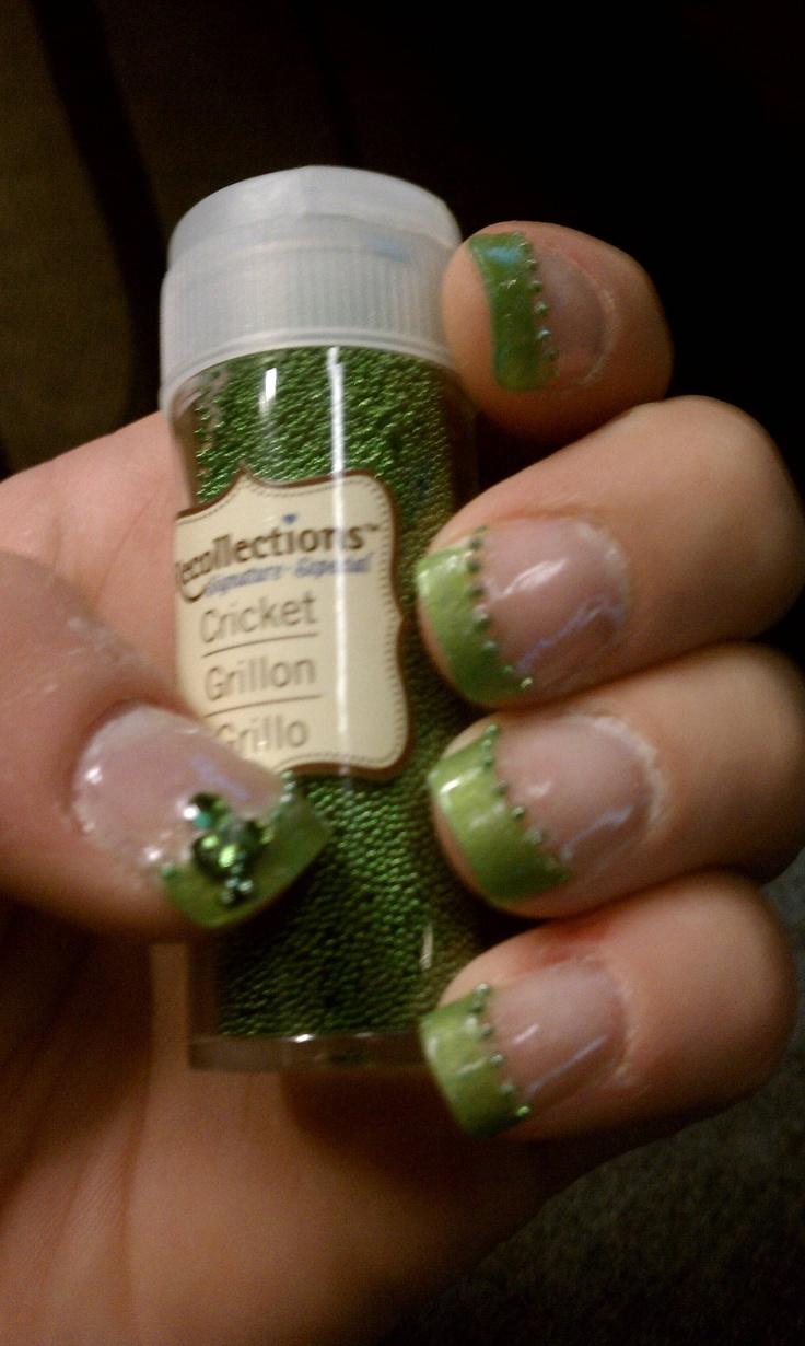 Nail Art Ideas shamrock nail art tutorial : 463 best nails... images on Pinterest | Ohio state nails, Ohio ...
