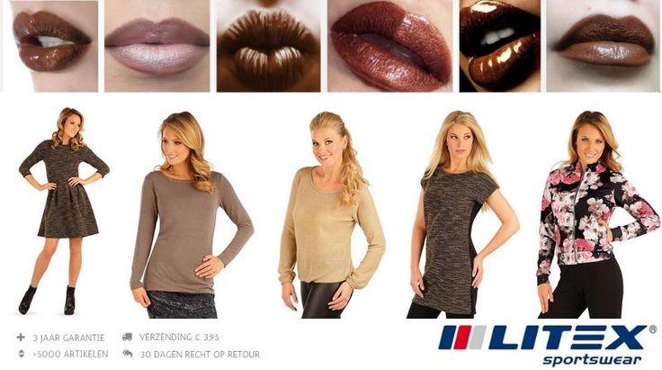 Bruine lippenstift is de trend dit najaar. Wat draag je daarbij?  #beinspired http://www.litex-shop.nl/nieuw/ #bruin #fashion