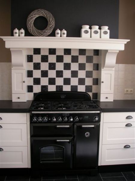 Love large shelf n brackets...two or three located back wall centered (above where sink is).