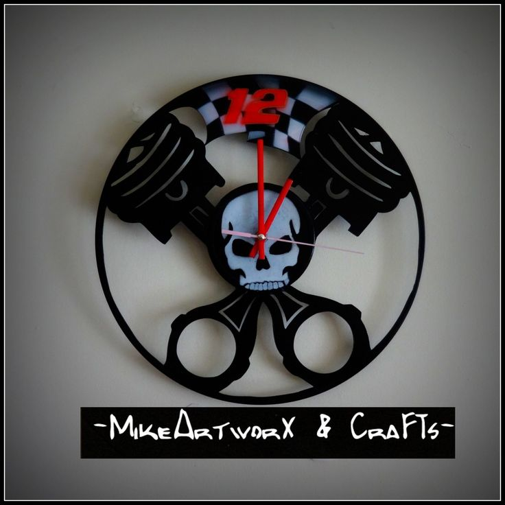 Pistons and skull.