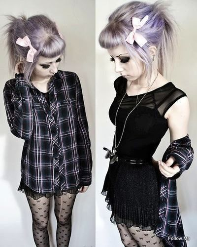 blonde/lavender... cute but idk if i could go that light XD stunning omfg