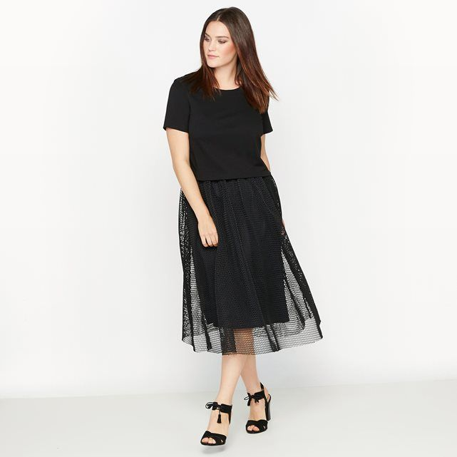 2-in-1-Kleid, Materialmix CASTALUNA
