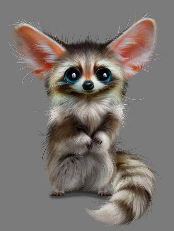 Raccoon Monster Baby Diamond Painting