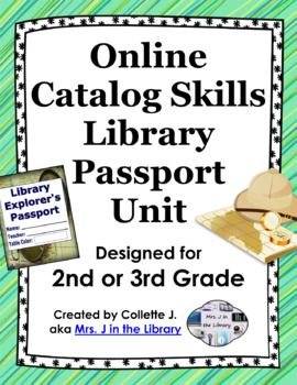 """This unit will teach students how to navigate the library and use an online catalog (or OPAC) in an engaging, fun way! Includes lesson plans, printable student """"passport"""" for tracking progress, interactive whiteboard and PowerPoint presentation with quizzes."""