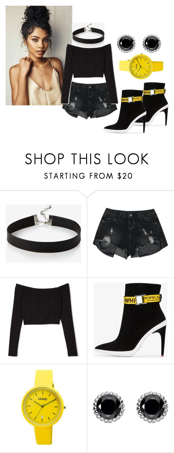 """""""becoming a model"""" by peaches-743 ❤ liked on Polyvore featuring Express, Off-White, Crayo and Thomas Sabo"""