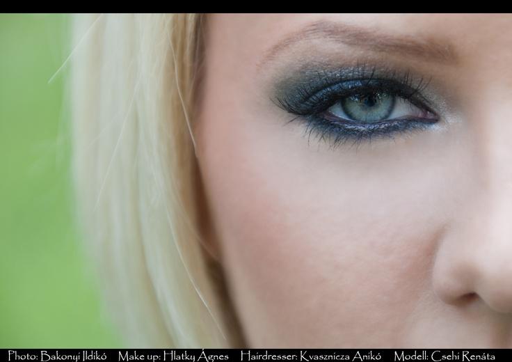 Makeup: Agnes Hlatky,  Modell: Renata Csehi,  Photo: Ildiko Bakonyi