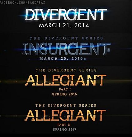 They split the last movie into 2. Who's kind of sick of franchises doing this? First Harry Potter, then Hunger Games, now Divergent?!?!