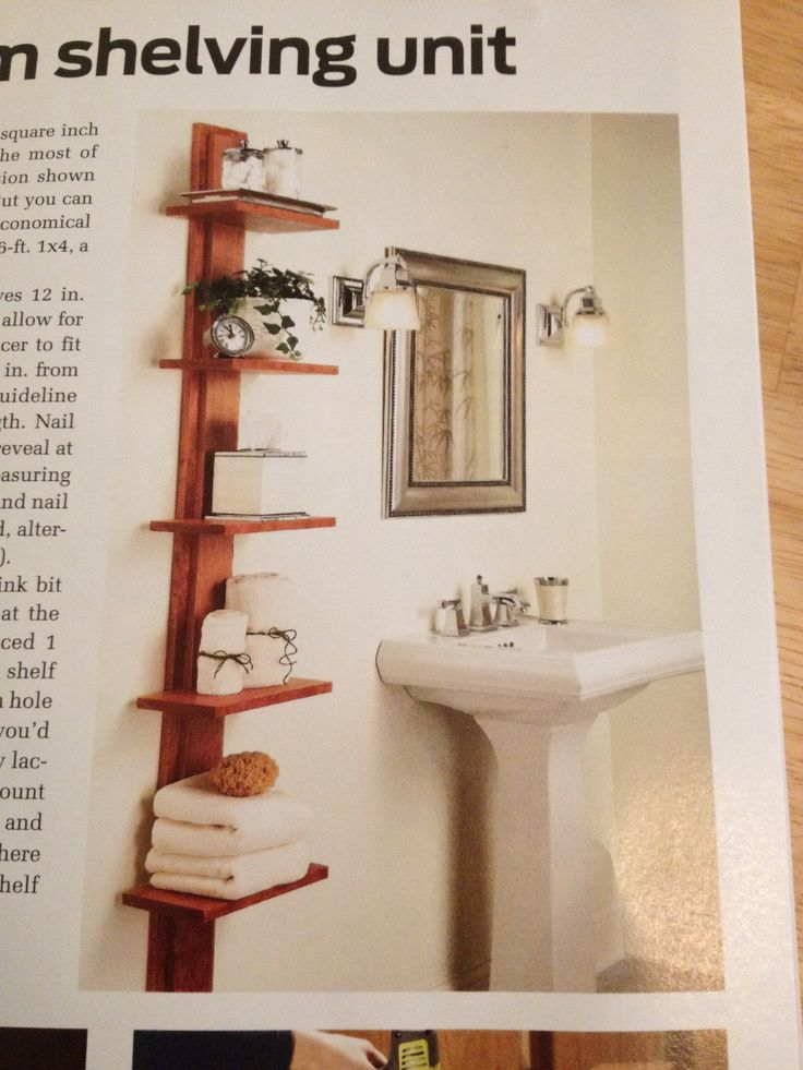 17 best ideas about bathroom shelving unit on pinterest for Wooden bathroom shelving unit