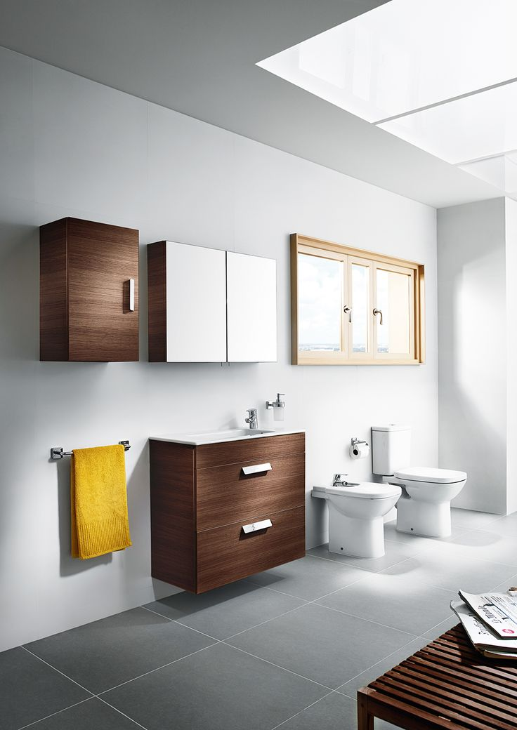 Debba range from Roca bathrooms in grey white bathroom