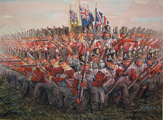 British square at Waterloo by giuseppe.rava, This is at Waterloo, but it is exemplary of the British Square as used in the Peninsular War.