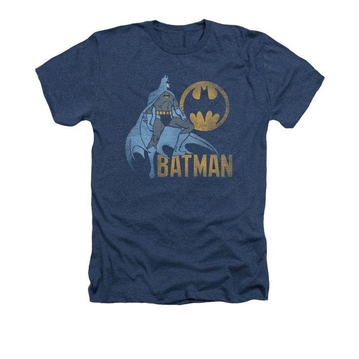 Batman - Knight Watch Adult Regular Fit Heather T-Shirt